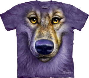 футболка friendly wolf face