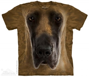 футболка great dane face