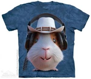 футболка guinea pig cowboy