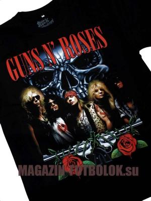 футболка guns n roses skull