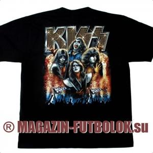 футболка kiss in fire