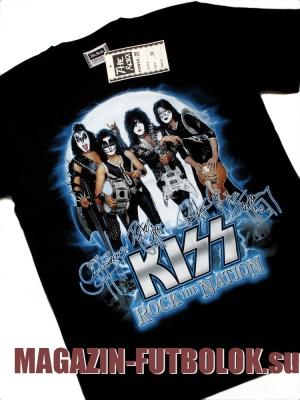 футболка kiss rock the nation