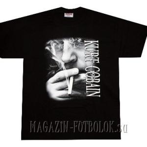 футболка kurt cobain smoking