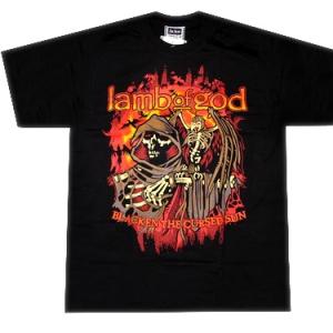 футболка lamb god blacken cursed sun