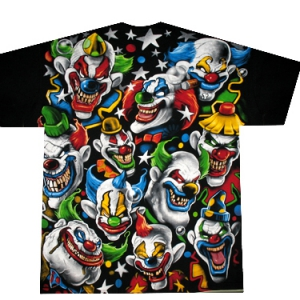 культовая футболка colored clowns