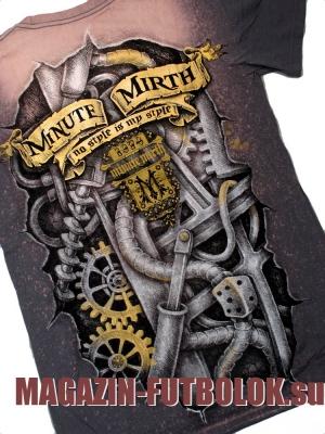 футболка minute mirth vitage engine