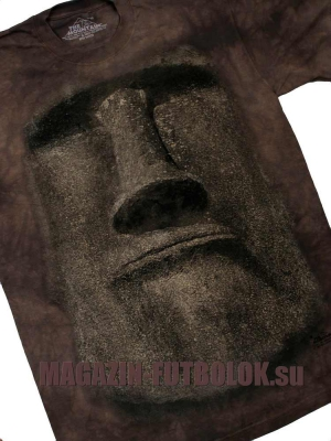 футболка моаи с острова пасхи