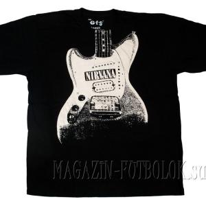 футболка nirvana с гитарой курта кобейна