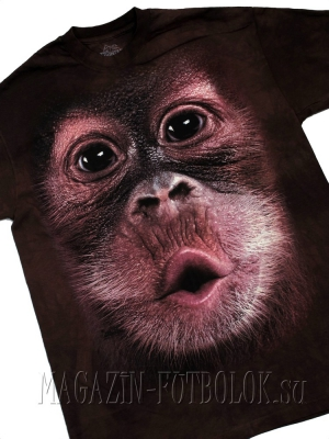 3d майка обезьяна big face baby orangutan