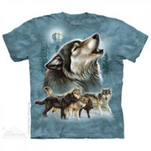 футболка old school wolf collage