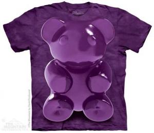 футболка purple chewy bear