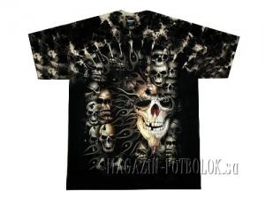 футболка с черепами skulls tie dye