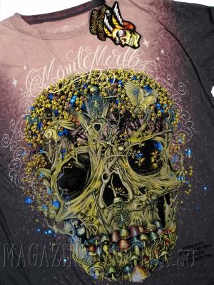 футболка с черепом plant skull