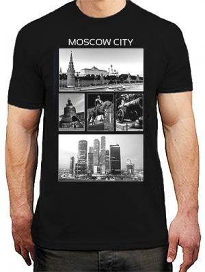 футболка с символикой москвы - moscow city