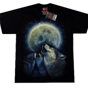 футболка с волком в полнолуние