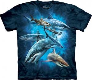 футболка shark collage