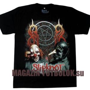футболка slipknot two masks