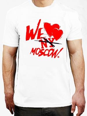 футболка we love moscow