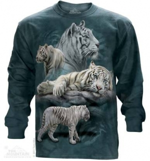 sweatshirt white tiger collage