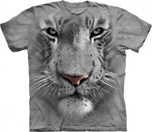 футболка white tiger face
