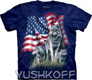 футболка wolf flag