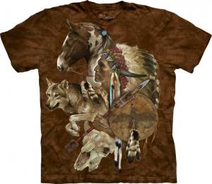 футболка wolf spirit warrior