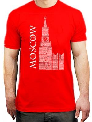 футболки с логотипом москва russian words