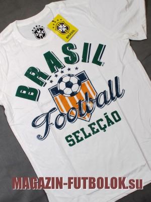 футбольная футболка бразилии brasil selecao
