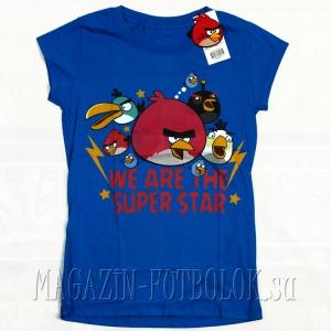 женская футболка angry birds we superstar