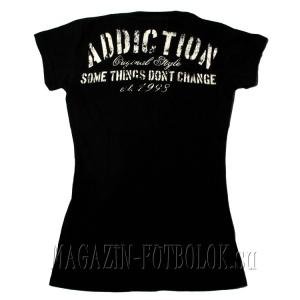 женская футболка strip down fuck stock
