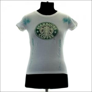 прикольная футболка для девочек starbucks