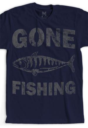 футболка gone fishing
