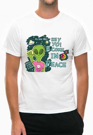 футболка hey yo come in peace