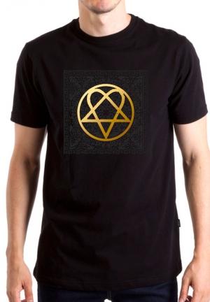 футболка him gold logo