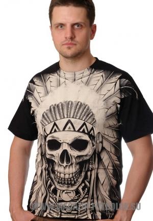 indian skull заказать 3d футболки
