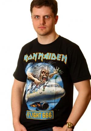 футболка iron maiden  flight 666