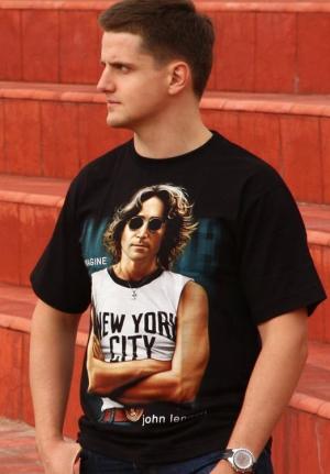 футболка john lennon new york city