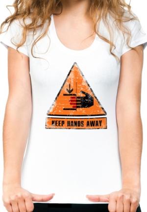 футболка keep hands away - на заказ