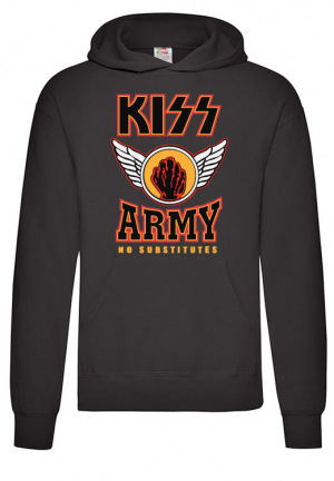 худи kiss army no substitutes hoodie black
