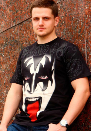 full print gene simmons футболка кисс