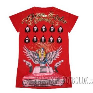 женская футболка с принтами girl car