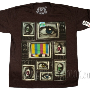 креативный рисунок на футболке ретро телевизор