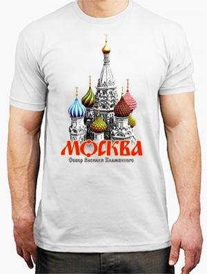 футболка с надписью москва