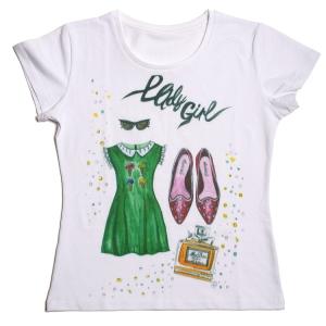 lady girl футболка с авторским рисунком