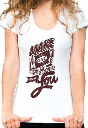 женская футболка make money