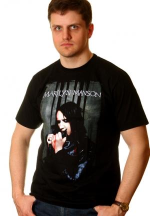 metal футболки marilyn manson