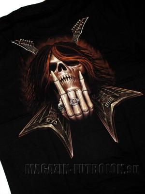 метал футболка с гитарой