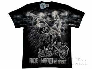 мото футболка ride hard die fast