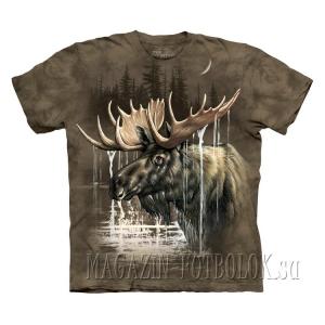 mountain футболки принты животных moose forest