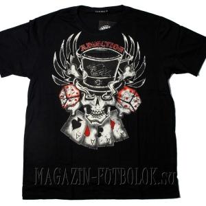 мужская футболка skull cards dice